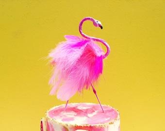 Handmade Flamingo Topper