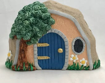 Concrete Fairy Door,Fairy Door,Fairy Garden Door,Gnome Door,Miniature Garden Door,Peaches and cream Door,Gift for Gardener,