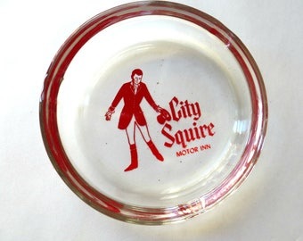 Ashtray City Squire Motor Inn Clear Glass