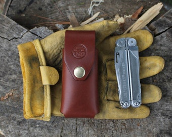 Leather Multi-Tool Case Sheath - For Leatherman Wave and Charge - Gifts for Men - Made in USA - American Bench Craft - Reading, MA - Boston
