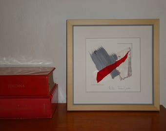 """Small Painting- Collage 4-mixedmedia-material-abstract-informal.Misura 7.8 """"x7.8"""""""