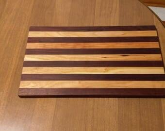 Wood cutting board /Black Walnut/Cherry./ reduced