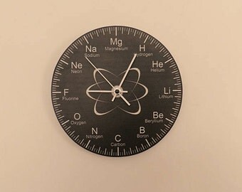 Chemistry waal clock Hall Lobby Boy room Quiet clock. German clockwork. White Blue Black , Housewares, office wall clock