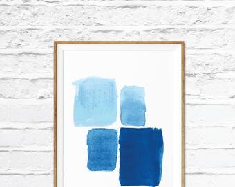 Blue Art Prints, Abstract Print, Geometric Print, Blue Print, Art print, Abstract Art, Abstract print, home decor, Office art, Blue
