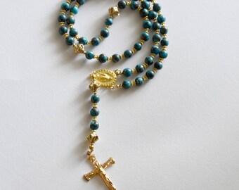 Turquoise Gold Elegant Rosary