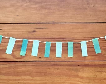 Seafoam Mint Green Paint Scrap Banner