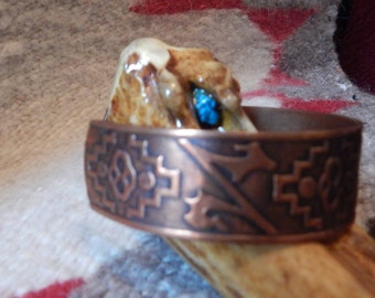 copper bracelet, large, Native American Jewelry, Cherokee, southwest, Texas, New Mexico, vintage jewelry, real copper, quarter horse