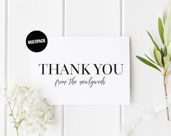 Newlyweds Thank You Cards (10) Thank You Card Pack, Newlyweds Thank You Card Set, From The Newlyweds, Elegant Wedding Card, Thank You Card