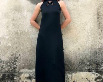 Maxi Dress, Black Long Dress, Sleeveless Dress, Plus Size Maxi Dress, Cut Outs Dress, Party Dress, Boho Bridesmaid Dress, Evening Dress
