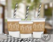 Pineapple Flamingo Cup Sleeves | Paper Cup Sleeves | Coffee Sleeves | Hot Beverage Sleeves | social graces and co.