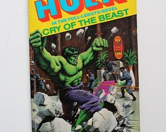 Rare The Incredible Hulk Cry of the Beast Marvel Novel #3 Paperback 1979