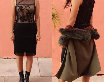 1990s Vivienne Tam Black Mesh Cheongsam - Vintage 90s Sheer Evening Dress - Beaded Embroidery - Mandarin Collar - Size Small