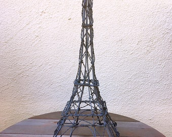 Vintage Wire Metal Eiffel Tower Centerpiece Free Shipping