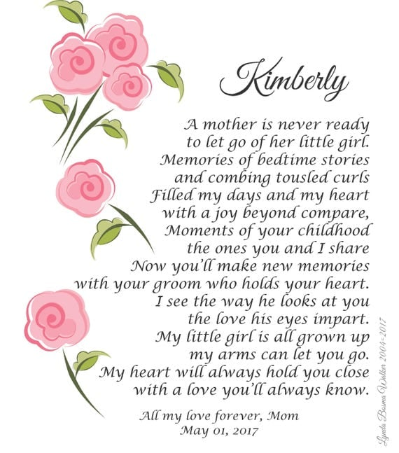 My Daughter Wedding Poem A Mother Is Never Ready