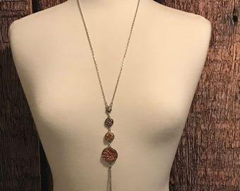 Statement Necklace | Druzy Statement Necklace | Three Stone Necklace | Stone Necklace