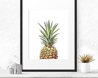 Pineapple art, Pineapple print, Greenery, Ananas, Pineapple poster, Pineapple printable, 8x10 print, 18x24 print, 8x10 art print, 16x20 art