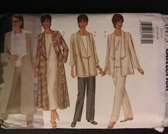 Butterick 6473 - Fast and Easy Classic Separates with Jacket, Duster, Top, Dress, and Pants - Size 12 14 16