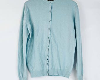 Pringle of Scotland Cashmere Baby Blue Cardigan