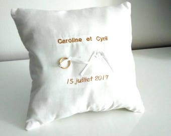 Personalized ring bearer pillow