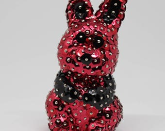 Little Bunny in red sequins