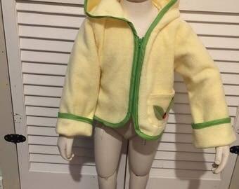 Owl fleece jacket 2T