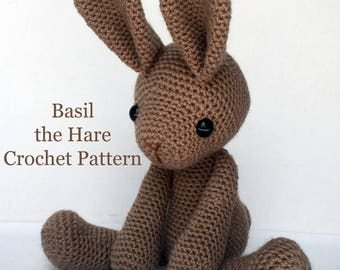 PATTERN: Basil the Hare Crochet Amigurumi Pattern