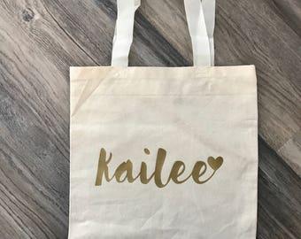 Personalized bridesmaid wedding totes - wedding bags - bridesmaid bags - bridesmaid gift