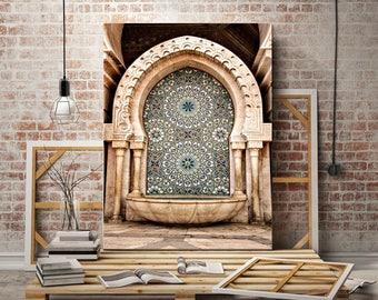 Fine Art Photography - Moroccan Fountain - Hassan II Mosque - Casablanca - Morocco - Wall decoration - Travel