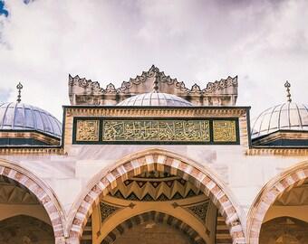 Photographie Fine Art de la mosquée Süleymaniye d'Istanbul en Turquie - Toile photo
