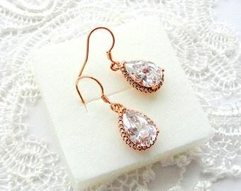 Bridesmaid earrings Bridesmaid jewelry Bridesmaids gifts for Wedding Earrings Bridesmaids earrings Teardrop Drop earrings Bridal Earrings jm