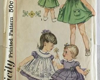 Vintage Pattern Toddler Gilr's Dress
