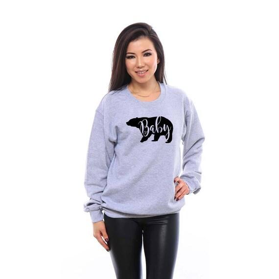 Baby Bear, Baby Bear Sweatshirt, Baby Bear Shirt, Mama Bear Baby Bear, Gift for Daughter, Daughter Gift, Sweatshirt, Adult Unisex Sweatshirt