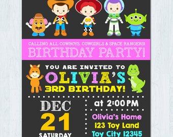 Girl Toy Story Invitation, Toy Story Girl Invitation, Toy Story Girl Birthday invitation, Girl Toy Story Birthday invitation