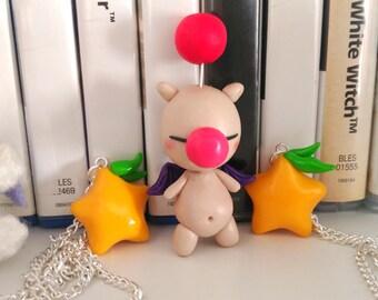 Moogle Necklace or Keychain Final Fantasy Kingdom Hearts Square Enix