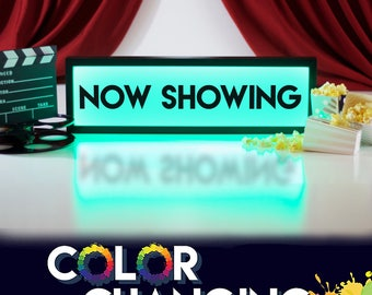 Now Showing Sign, Now Showing, Movie Sign, Movie Room Decor, Theater Room Sign, Light Up Sign, Home Theater Decor, Home Cinema, Theater Sign