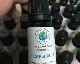 Grapefruit Certified Organic Essential Oil Pure Therapeutic Grade - 10 ml