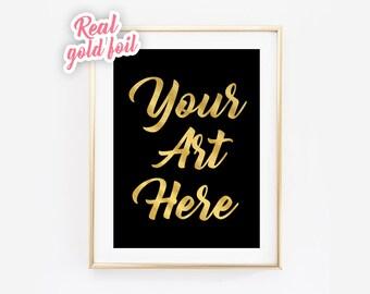 Custom Gold Foil Print - Rose Gold - Silver Foil