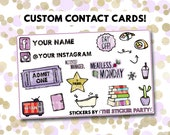 Go WILD Custom Contact Cards | Go Wild 2018 Wild For Planners (READ DESCRIPTION!)