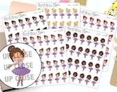 Ballerina Planner Stickers - Dance Planner Stickers - Mom LIfe Planner Stickers - Character Stickers - 1451 - 1452 - 1453 - 1454 - 1455