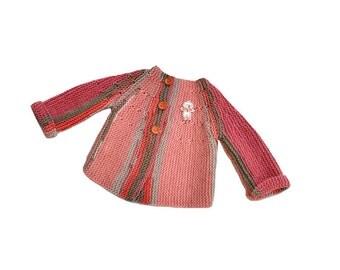 Baby girl jacket. Baby girl cardigan. Handmade jacket baby. Knit baby clothes. Baby girl clothes. Spring jacket baby. Girl Babyshower gift.