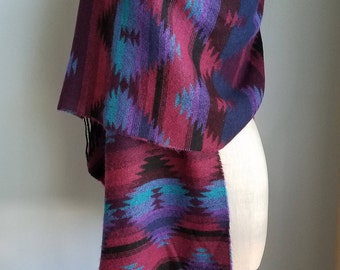 native print shawl wrap