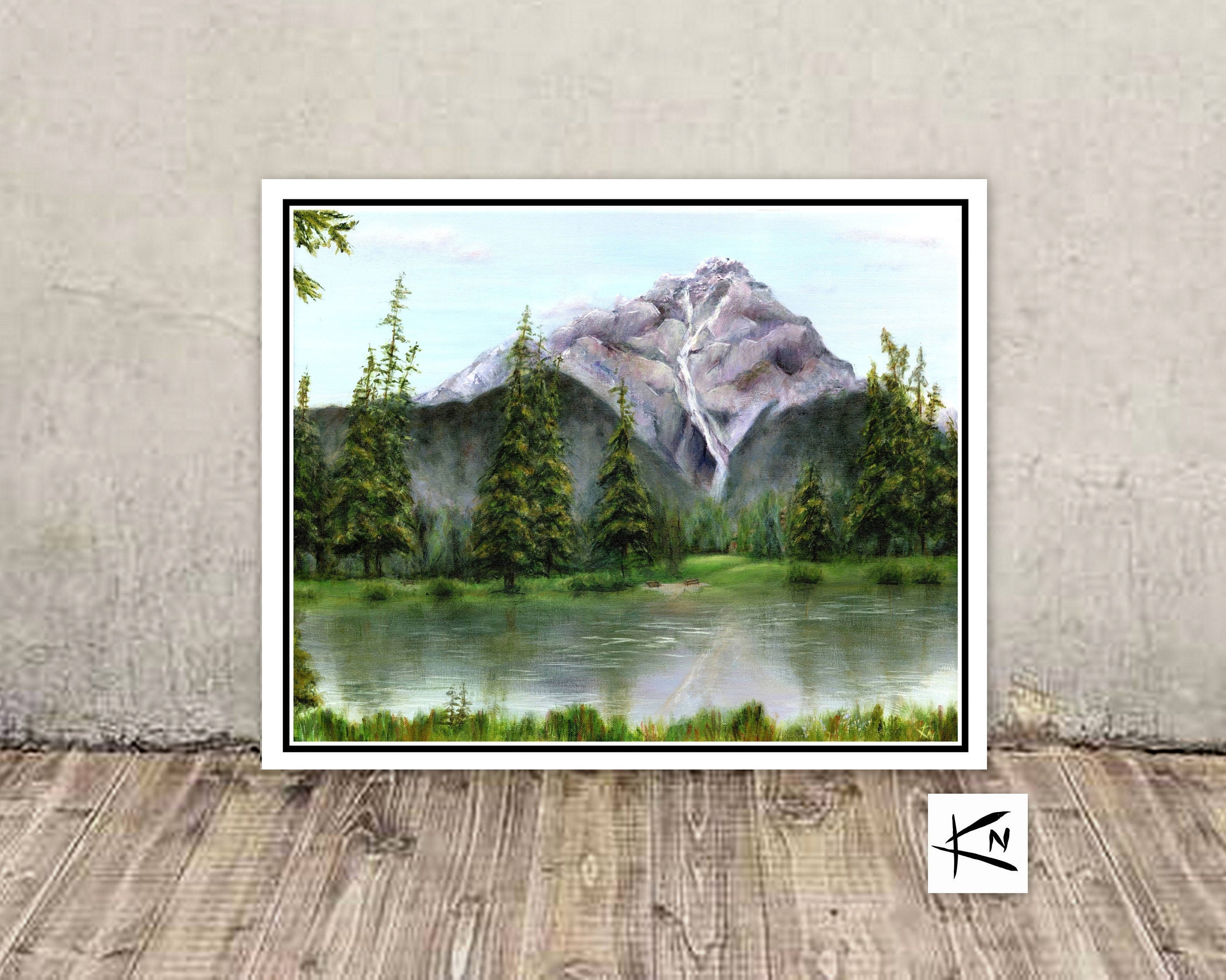 Mountain card blank greeting cards handmade lake cards fine mountain card blank greeting cards handmade lake cards fine art cards kristyandbryce Images