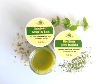 Green Tea Cream, Green Tea Butter, Green Tea Body Butter, Skin Cream, Green Tea, Natural Moisturizer, Skin Balm, Avocado Butter, Elderflower