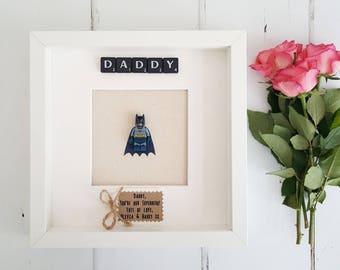 Daddy Frame/Daddy Superhero Gift/New Daddy Gift/Dad Superhero Frame/Dad Gift/Gifts for Him/Boyfriend Gift/Husband Gift from Children