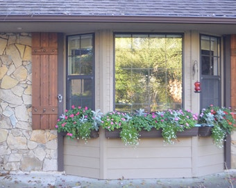 Stained cedar shutters exterior shutters Board and Batten