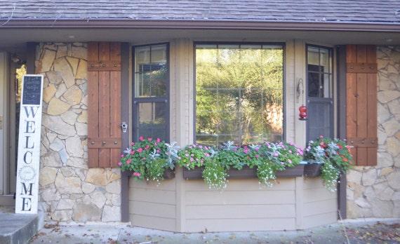 Wood Cedar Shutters Exterior Shutters Board And Batten