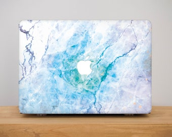 Marble Laptop Case MacBook 12 Case Stoned MacBook Pro Hard Case Marble MacBook Pro Macbook Air Case Blue MacBook Air 13 inch Case MB_268
