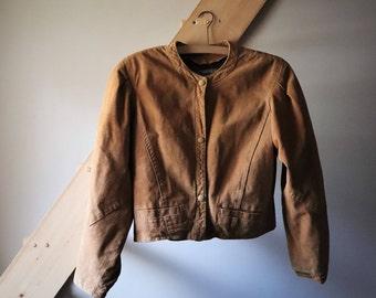 Vintage women jacket genuine leather jacket