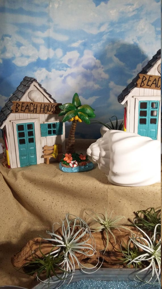 Fairy Garden Beach Housebeach Themed Fairy House Light Up