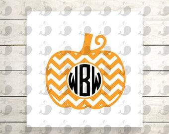Chevron Pumpkin Monogram Iron On Decal, Pumpkin Monogram Iron On Decal, Pumpkin Monogram Heat Transfer Decal